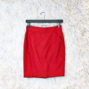J. Crew cotton pencil skirt